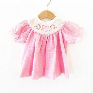 Vintage Bright Pink Dress 6-9 Months